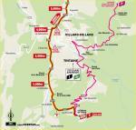 Streckenverlauf Tour de France 2020 - Etappe 16, letzte 5 km