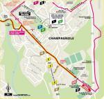 Streckenverlauf Tour de France 2020 - Etappe 19, letzte 5 km