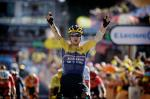 Primoz Roglic gewinnt den Sprint der Bergfahrer in Orcières-Merlette (Foto: twitter.com/JumboVismaRoad)