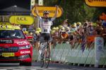 Seine dritte Flucht bei dieser Tour de France beendet Marc Hirschi als Etappensieger (Foto: twitter.com/teamsunweb)
