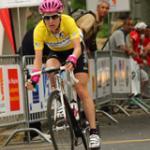 Arndt bei ihrem Sieg in Gelb (Foto: www.t-mobile-team.com)