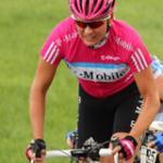Knapp geschlagen im Sprint einer Ausreißergruppe: Anke Wichmann. (Foto: t-mobile-team.com)