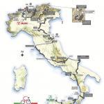 Streckenverlauf des Giro d\'Italia 2008