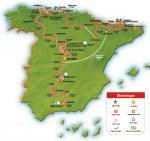 Streckenverlauf der Vuelta 2008