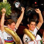 Bruno Risi, Franco Marvulli, Sieger Lottozesdaagse van Hasselt, Archivfoto Adriano Coco