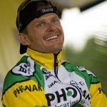 Floyd Landis besucht seine Teamkollegen beim Giro