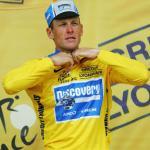 Lance Armstrong in seinem Lieblinstrikot