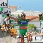 Etappensieger Matteo Priamo, 91. Giro d\' Italia 2008, 6. Etappe, Foto: Sabine Jacob