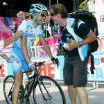 Gesamtzweiter Matthias Russ, Gerolsteiner-Betreuer Phillip, 91. Giro d\' Italia 2008, 6. Etappe, Foto: Sabine Jacob