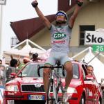 Etappensieger Gabriele Bosisio, 91. Giro d\\\' Italia 2008, 6. Etappe, Foto: Sabine Jacob