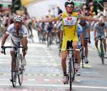 Etappensieger Riccardo Ricco gewinnt vor Palo Bettini. 8. Etappe Giro d´Italia, Foto: Sabine Jacob
