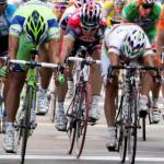 Etappensieger Daniele Bennati, Weltmeister Paolo Bettini, Robbie McEwen, 9. Etappe, 91. Giro d\'Italia, Foto: Sabine Jacob