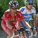 Ausreißer Mickael Buffaz , Yuriy Krivtsov9. Etappe, 91. Giro d\'Italia, Foto: Sabine Jacob