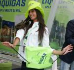 Startnummer 4, Gironella Daniela, 91. Giro d'Italia. Wahl Miss Gironissima 2008 von www.LiVE-Radsport.ch Foto: Sabine Jacob