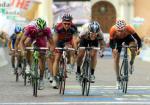 Daniele Benatti (Liquigas), Robbie McEwen, Mark Cavendish , Koldo Fernandez, 91. Giro d\'Italia, 12. Etappe, Foto: Sabine Jacob