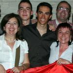 Alberto Contador feierte Giro-Sieg mit  spanischem Konsul und Freunden, Foto: Sabine Jacob