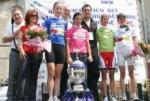 Siegerpodest (Arndt links) des Giro del Trentino Alto Adige, Foto: Veranstalter