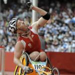 Thomas Geierspichler holt Gold im Rollstuhl Marathon bei den Paralympics 2008 in Peking (Foto: Franz Baldauf)