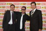 Jochen Meschke, Mario Nowack von der Robbie Williams Tribute Band und Sven Clausmeyer