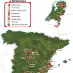 Streckenverlauf der Vuelta a España 2009
