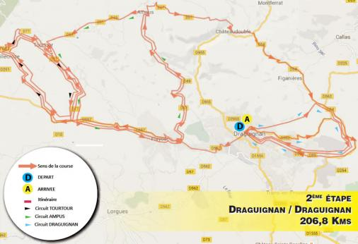 Streckenverlauf Tour Cycliste International du Haut Var-matin 2017 - Etappe 2