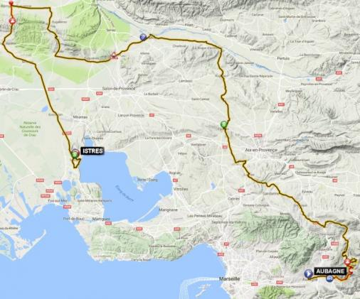 Streckenverlauf Tour Cycliste International La Provence 2017 - Etappe 1