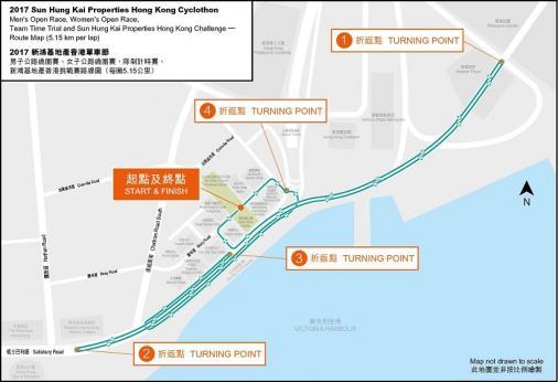Streckenverlauf Sun Hung Kai Properties Hong Kong Challenge 2017