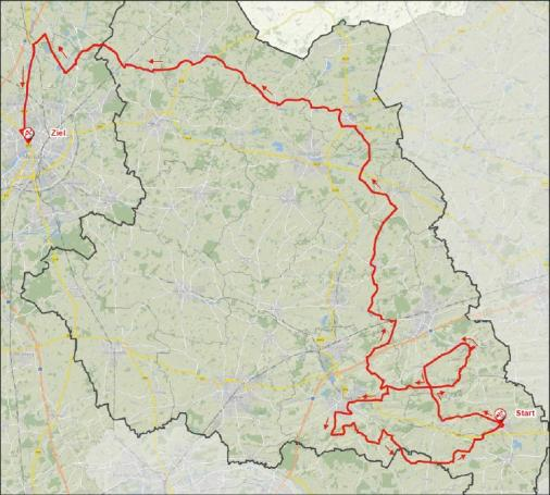 Streckenverlauf Sparkassen Münsterland Giro 2017