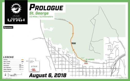 Streckenverlauf The Larry H. Miller Tour of Utah 2018 - Prolog
