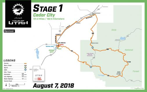 Streckenverlauf The Larry H. Miller Tour of Utah 2018 - Etappe 1