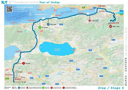Streckenverlauf Presidential Cycling Tour of Turkey 2019 - Etappe 5