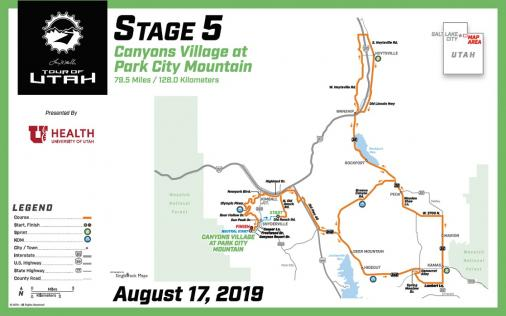 Streckenverlauf The Larry H. Miller Tour of Utah 2019 - Etappe 5