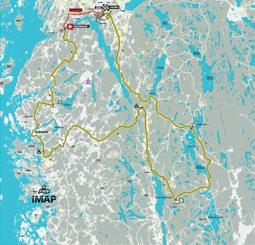Streckenverlauf Ladies Tour of Norway 2019 - Etappe 4